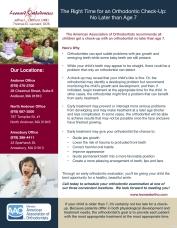 Orthodontic Education Sheet