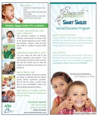 Dental Program Rack Card